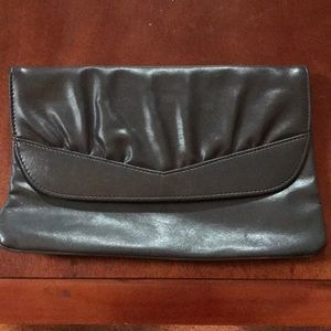 Charcoal gray clutch